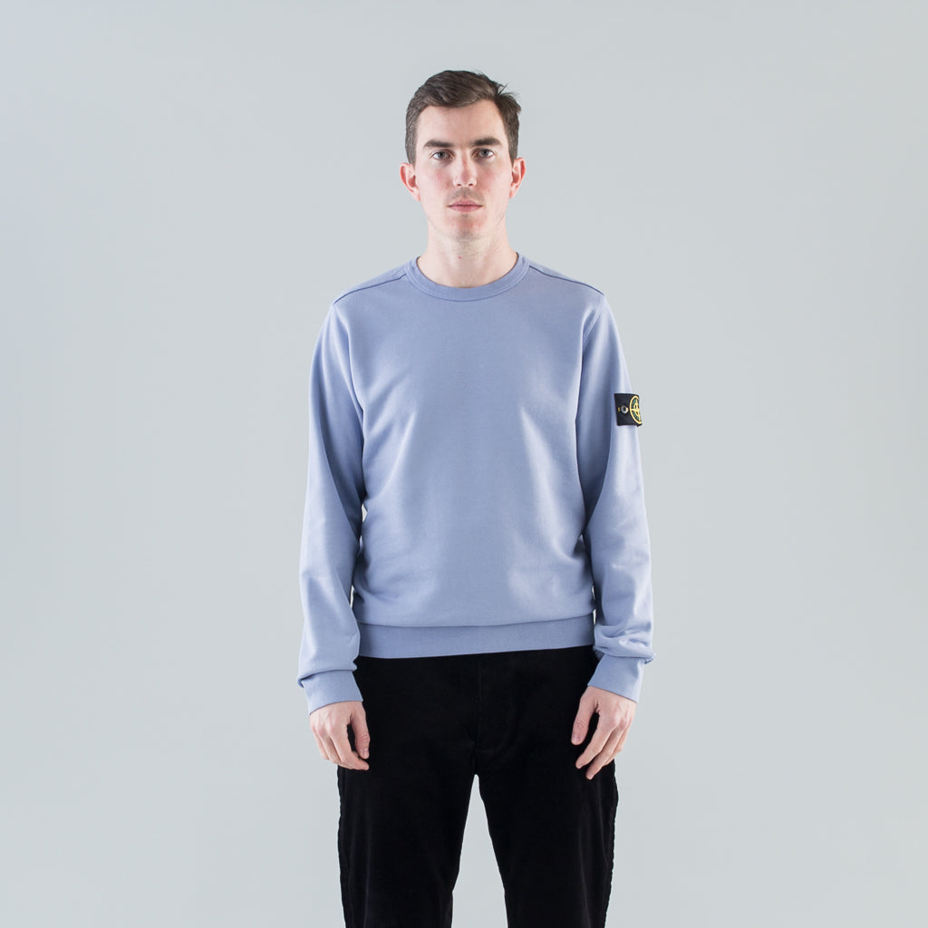 GARMENT DYED CREW SWEAT - LAVENDER