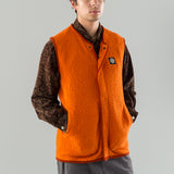 TERRY KNIT ZIP VEST - ORANGE