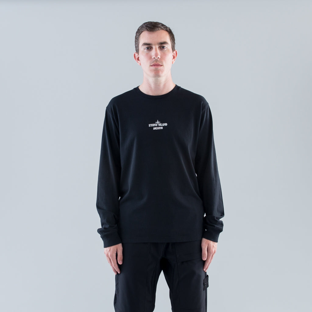 ARCHIVIO L/S T-SHIRT - BLACK POLY FELT