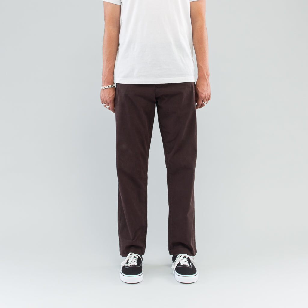 GABARDINE COMFORT PANT - DARK BROWN