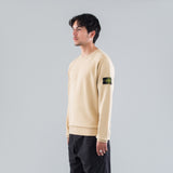 GARMENT DYED CREW SWEAT - BEIGE