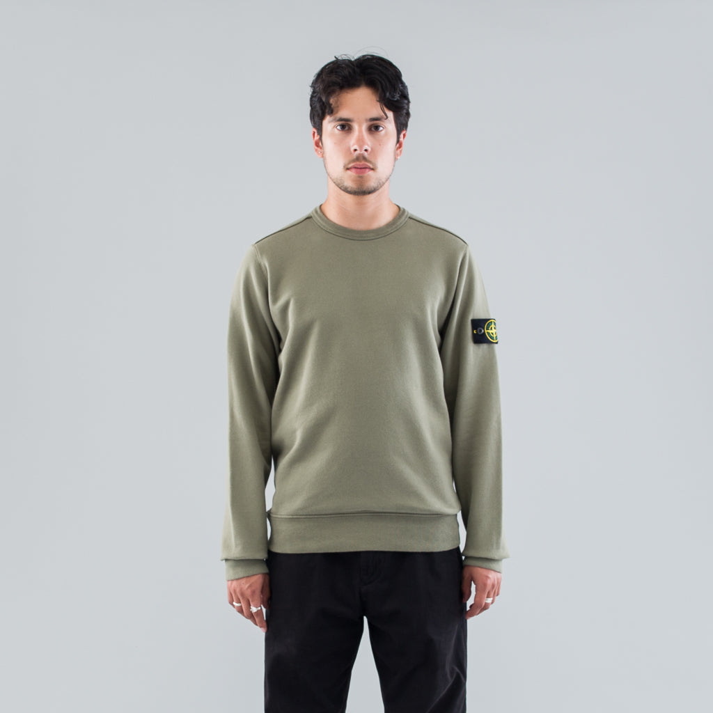 GARMENT DYED CREW SWEAT - MUD