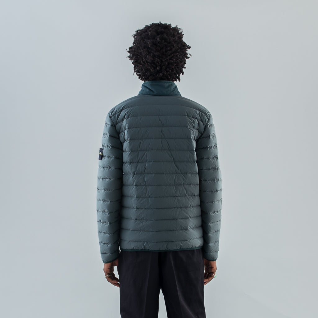 LOOM WOVEN DOWN CHAMBERS NYLON-TC JACKET - PETROL