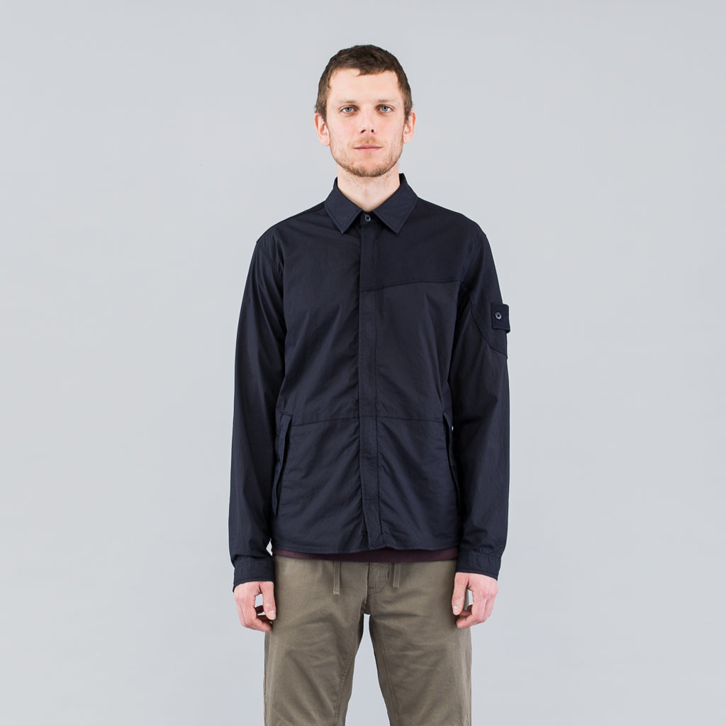 GHOST SHIRT JACKET - NAVY