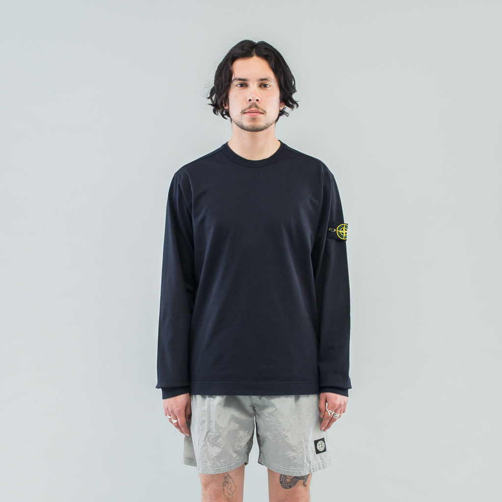 HEAVY JERSEY L/S CREW - DARK BLUE