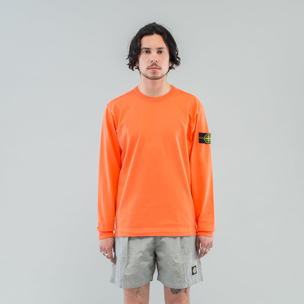HEAVY JERSEY L/S CREW - ORANGE