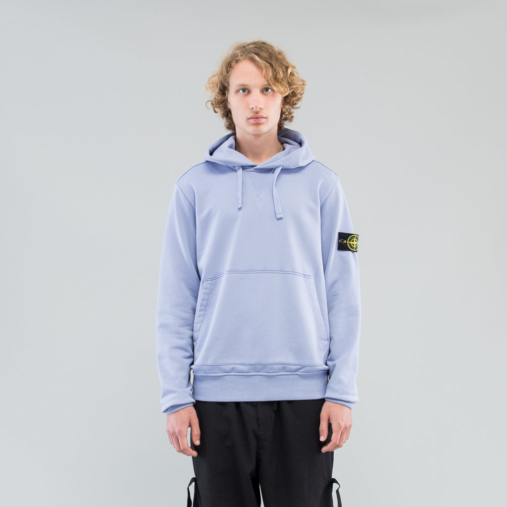GARMENT DYED HOODED SWEAT - LAVENDER