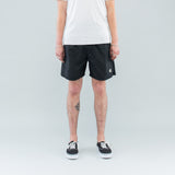 NYLON METAL SWIM SHORTS - BLACK