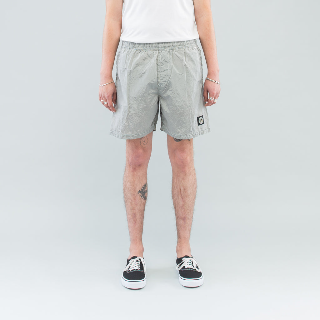 Stone Island Nylon Metal Swim Shorts Powder Maas Stacks