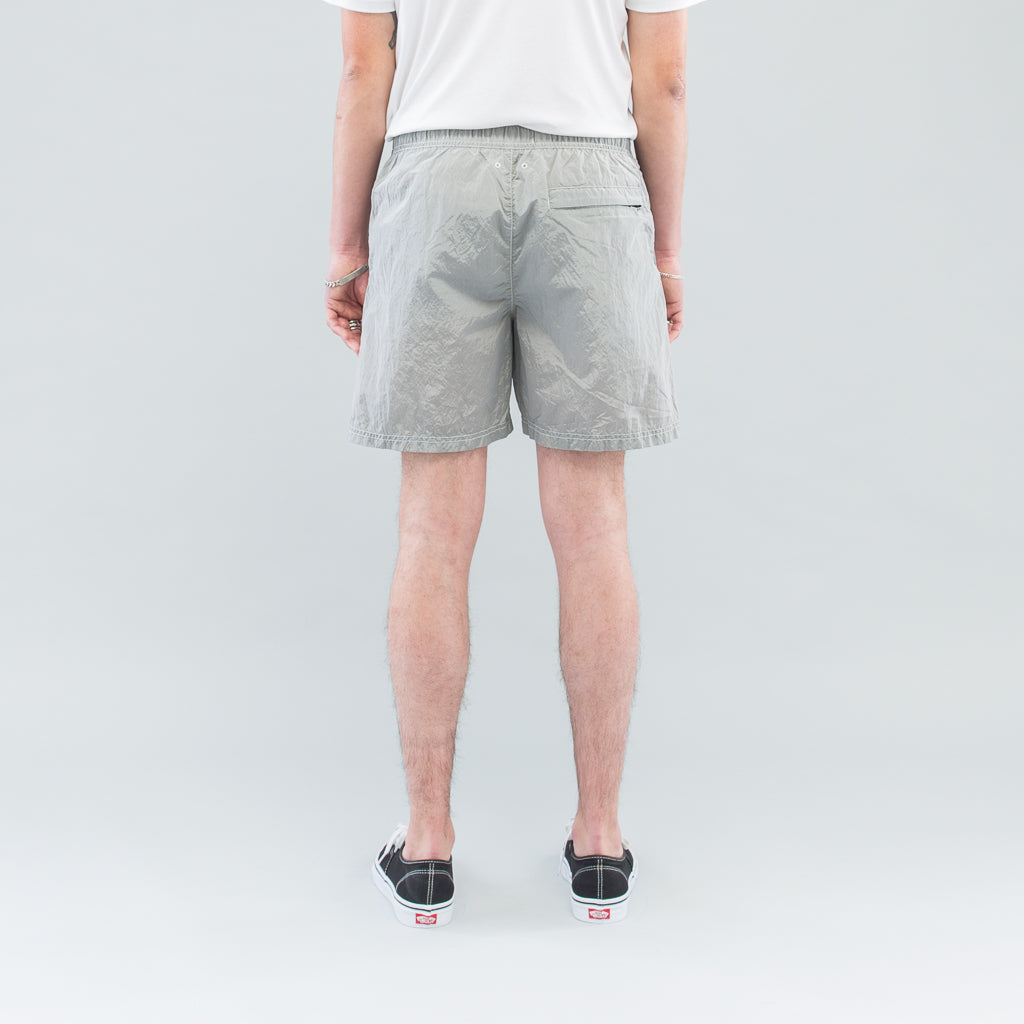 NYLON METAL SWIM SHORTS - POWDER