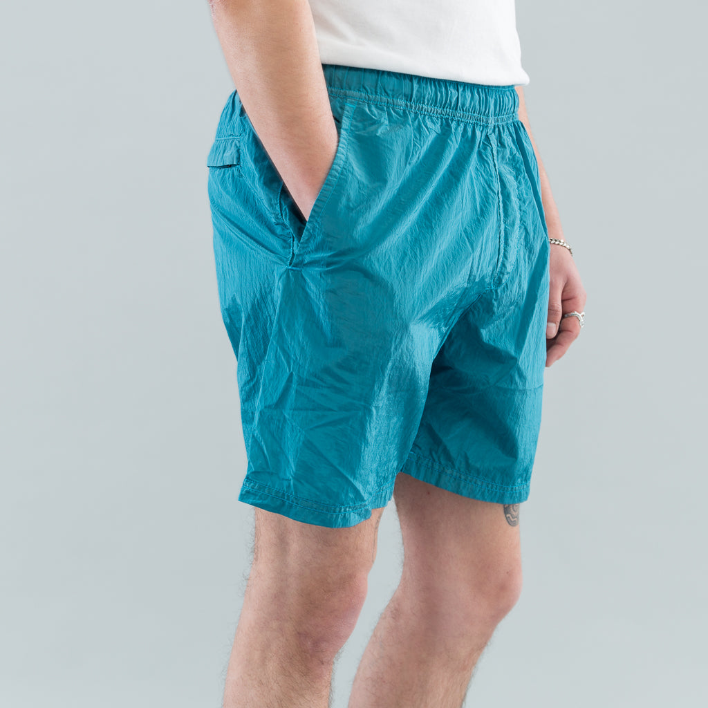 NYLON METAL SWIM SHORTS - TURQUOISE