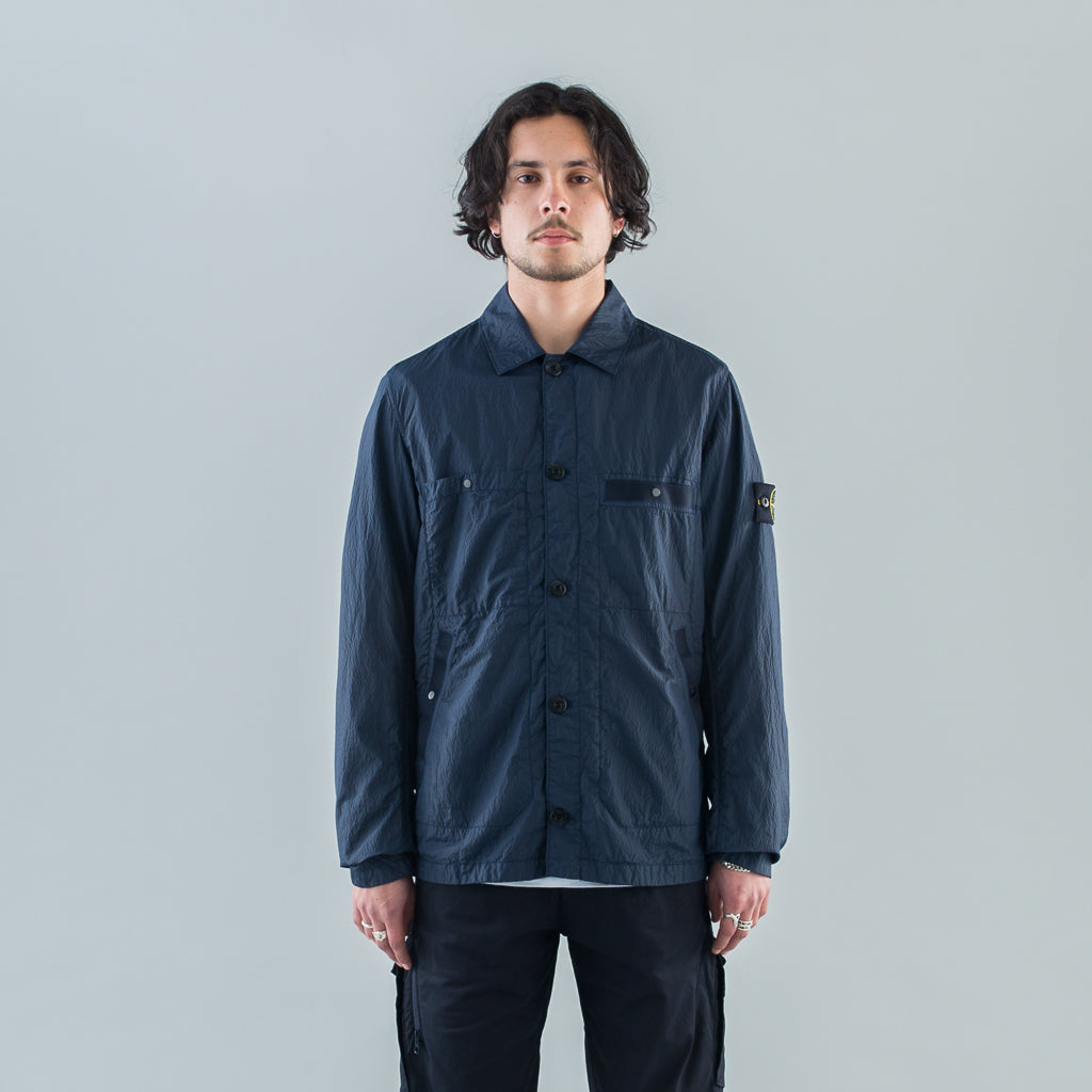 SEERSUCKER-TC LIGHT JACKET - BLUE