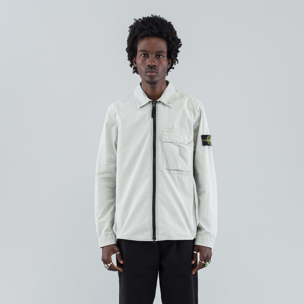 TELA ZIP OVERSHIRT - DUST