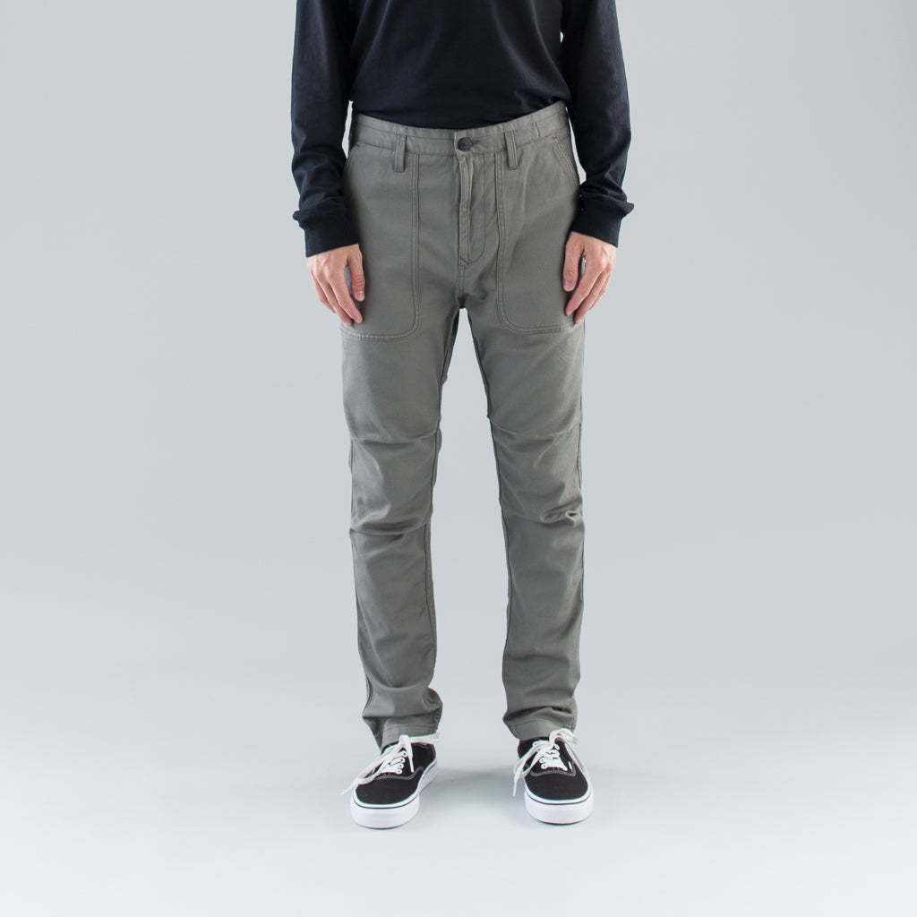 TWILL WORK PANT - OLIVE GREEN