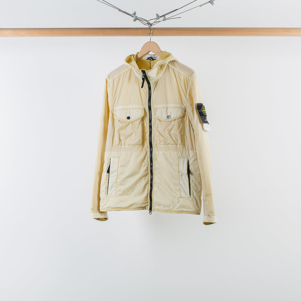 ARCHIVE SALE - STONE ISLAND - LAMY FLOCK HOODED JACKET NATURAL BEIGE