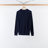 ARCHIVE SALE - SUNSPEL - LONG SLEEVE SWEAT TOP NAVY CASHMERE