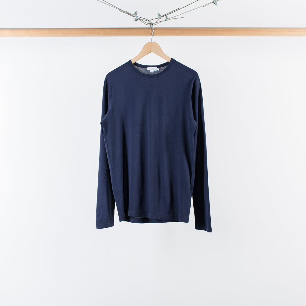 ARCHIVE SALE - SUNSPEL - LONG SLEEVE CREW NECK Q82 NAVY