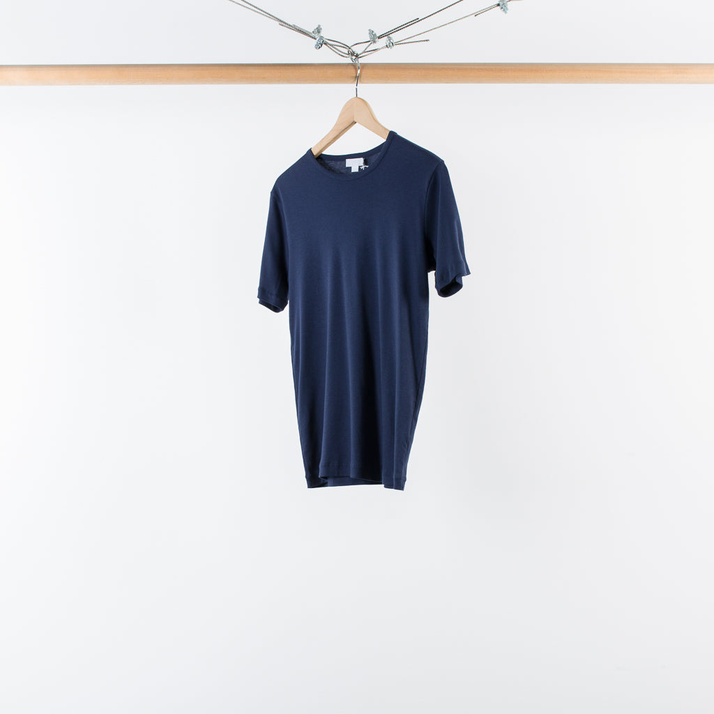 ARCHIVE SALE - SUNSPEL - SEA ISLAND SHORT SLEEVE CREW NECK T-SHIRT NAVY