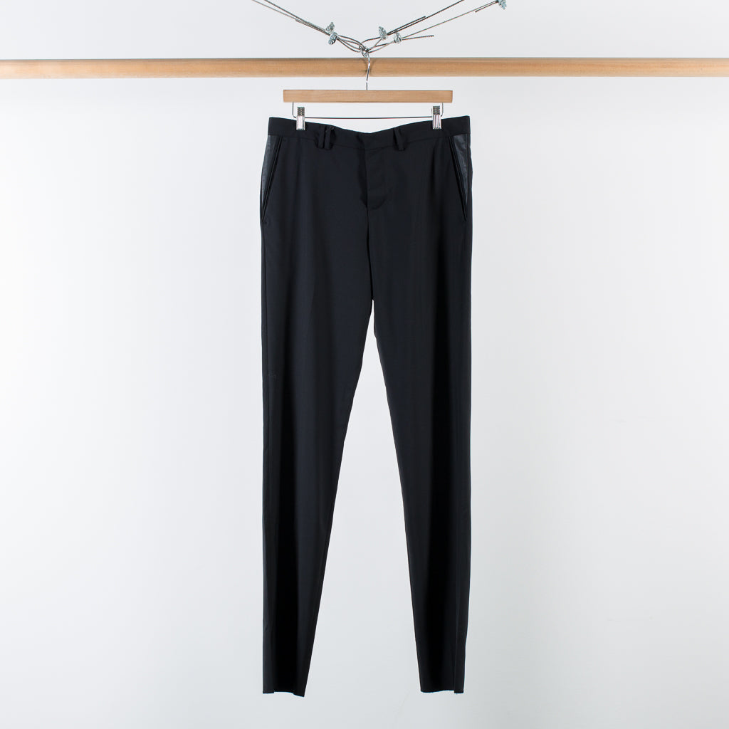 ARCHIVE SALE - TIM COPPENS - NAPPA COMBO DRESS PANTS BLACK
