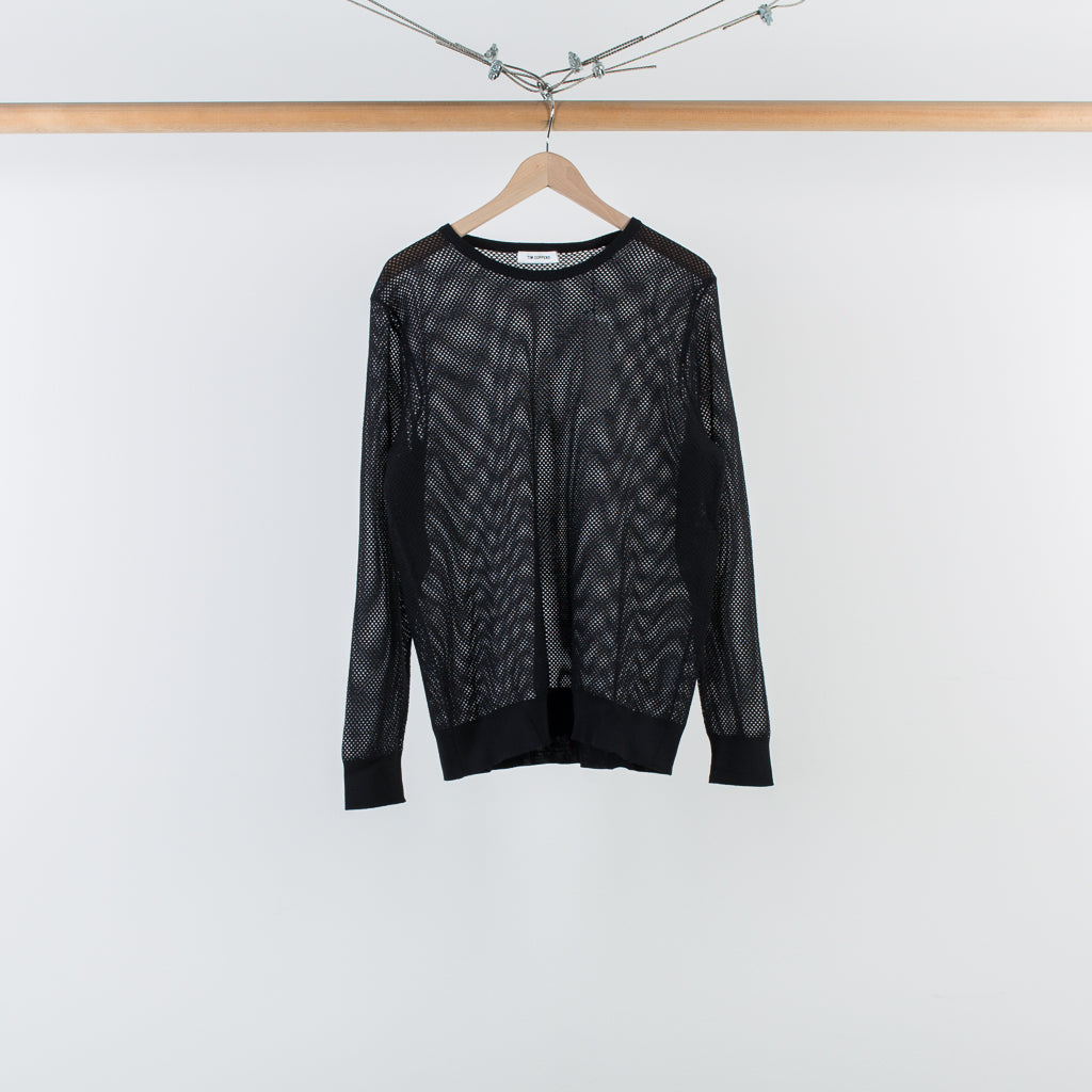 ARCHIVE SALE - TIM COPPENS - MERINO MESH KNIT BLACK