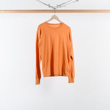 ARCHIVE SALE - VISVIM - D.SCOOP CREW L/S WIDE (LUXSIC) ORANGE