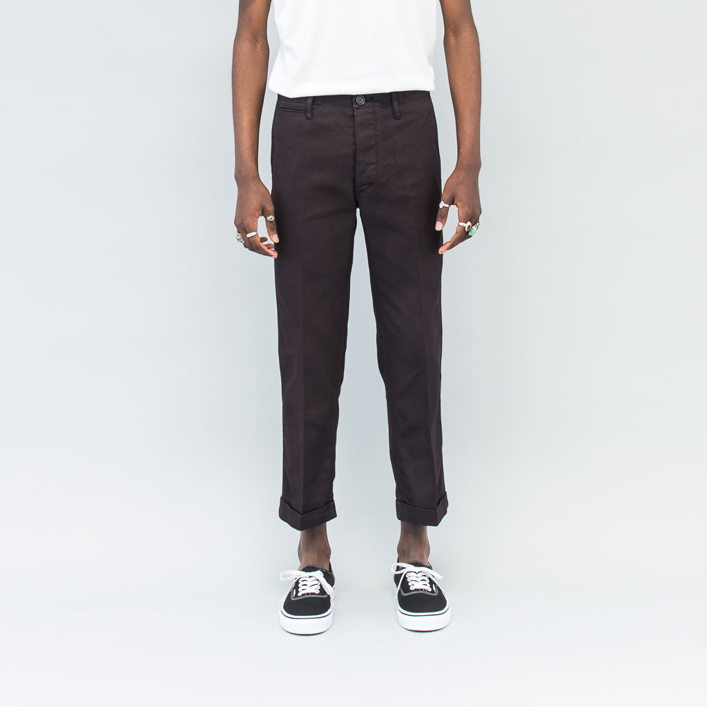 HIGH-WATER CHINO - BLACK