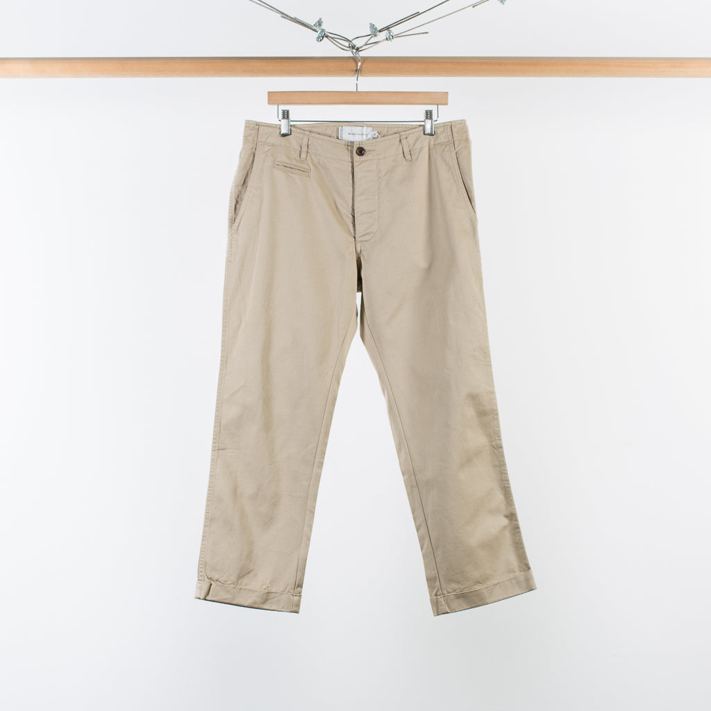 ARCHIVE SALE - WINGS + HORNS - WESTPIOINT CROPPED CHINO TAN