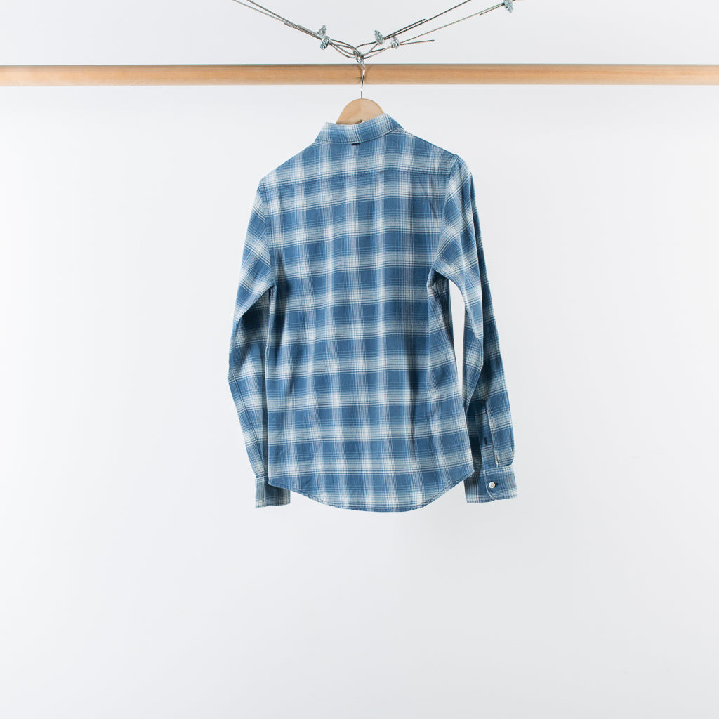ARCHIVE SALE - WINGS + HORNS - ENZYME / BLEACH SUNFADED PLAID
