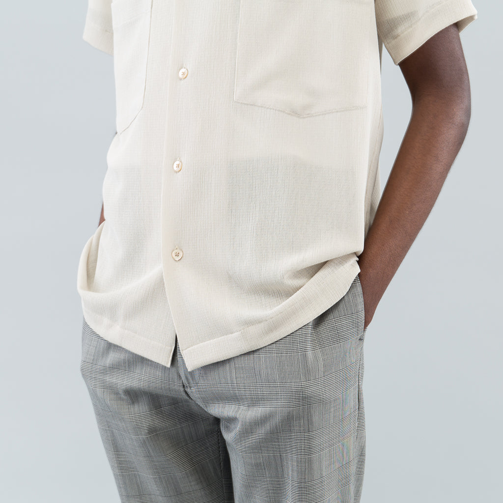 DEXTER CAMP COLLAR SHIRT - CREAM