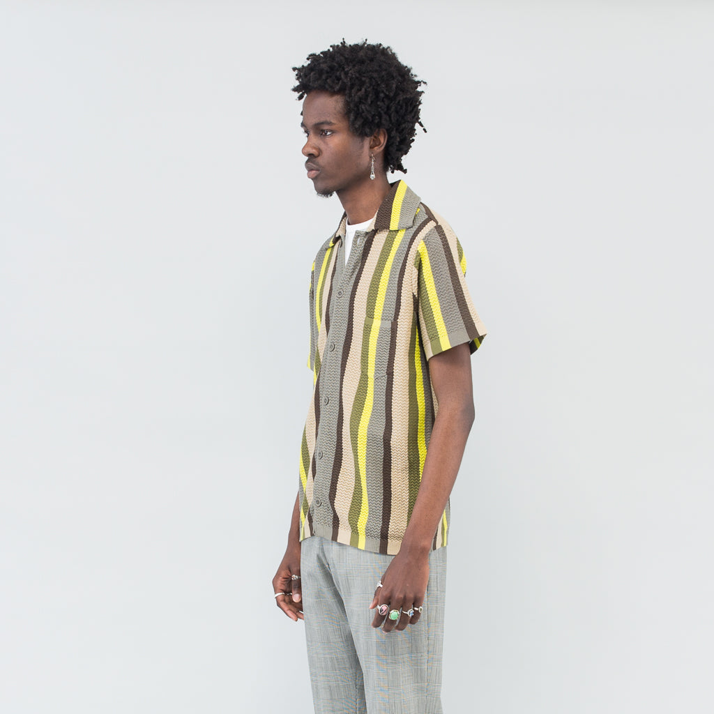 WES KNITTED SHIRT - MULTISTRIPE