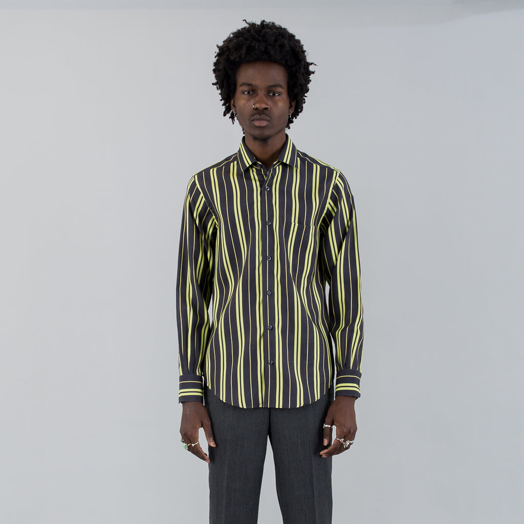 REPLICA SHIRT - GREEN BLACK SILK STRIPE