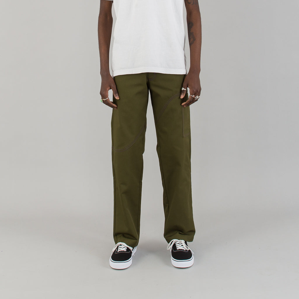 CORP PANTS RECYCLED + BIO - OLIVE