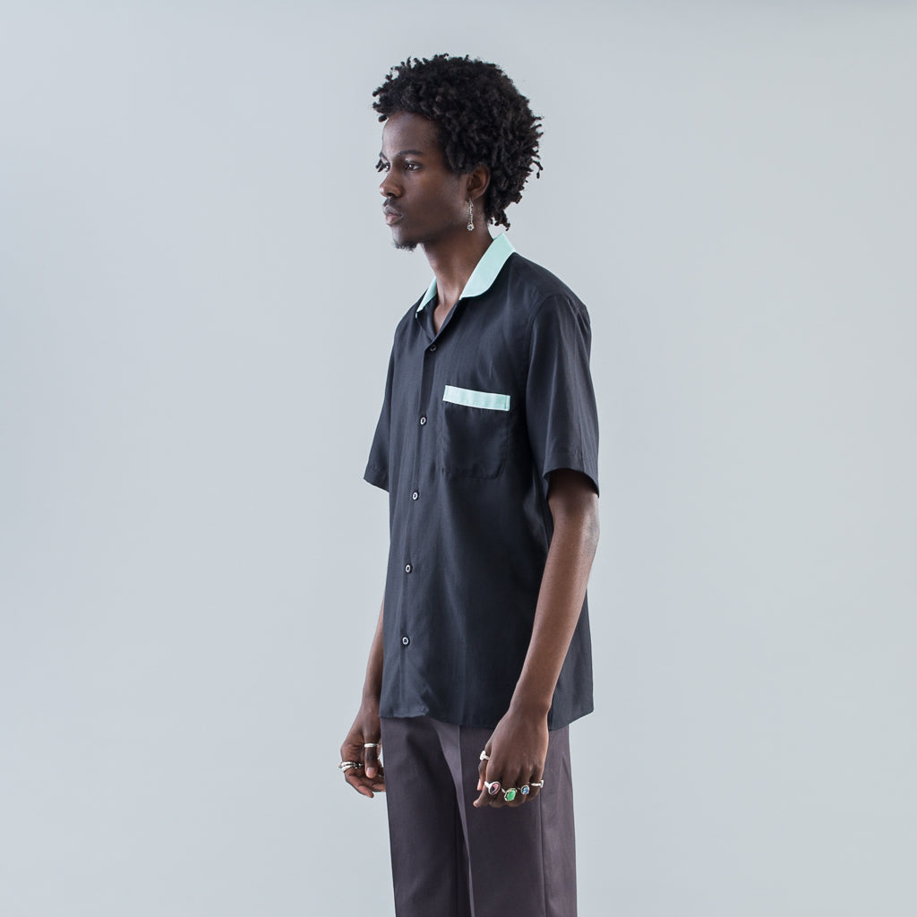 SHORT SLEEVE CABRIOLET SHIRT - BLACK / SEA FOAM