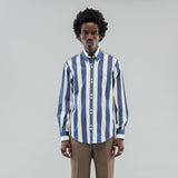 DOUBLE BUTTON SHIRT - JUMBO STRIPE