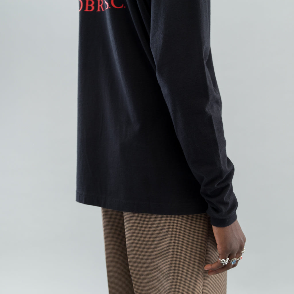 LONG SLEEVE T-SHIRT - BLACK JERSEY