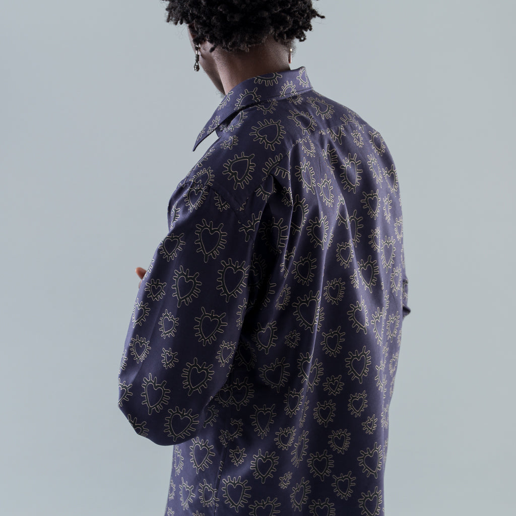 MODEL 1 SHIRT - PURPLE HEARTS