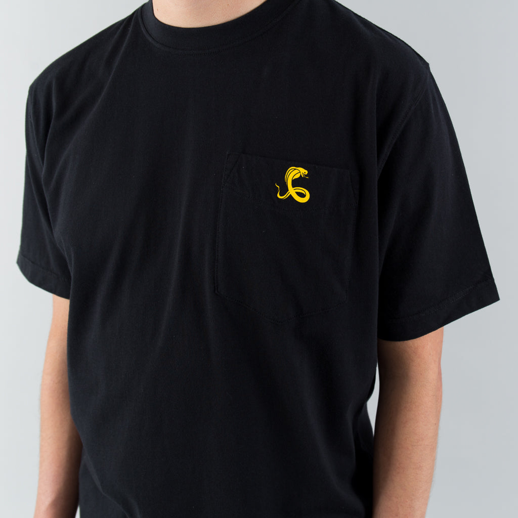 SS LOGO TEE - BLACK / YELLOW