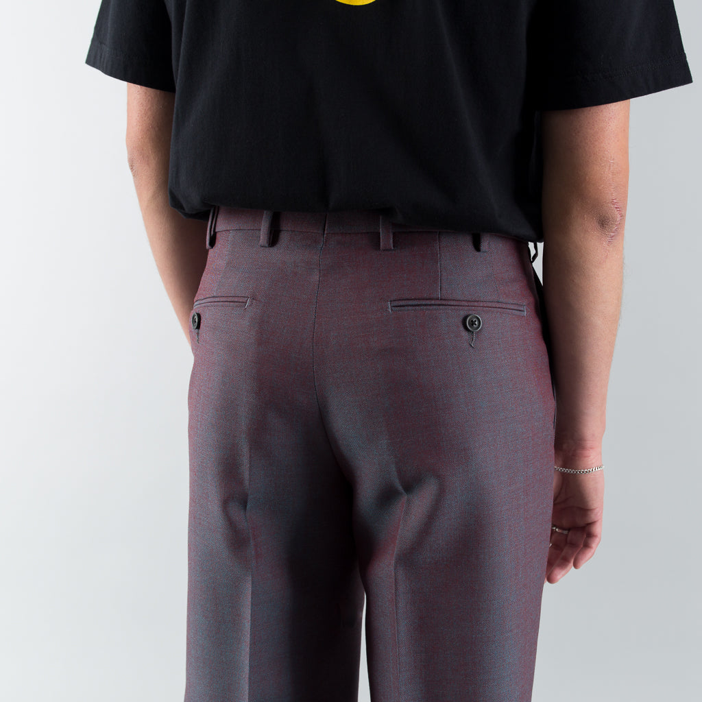 CLASSIC TROUSERS - ROSSO / VERDE CHAMELEON