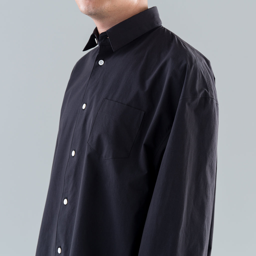 DROP-SHOULDER SHIRT - BLACK
