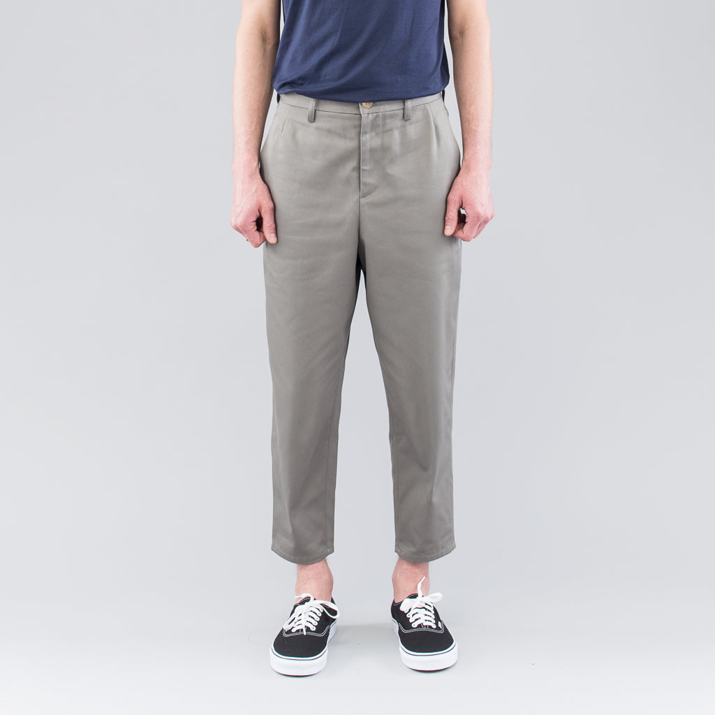 TAPERED PANTS - OLIVE