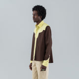 MIX WESTERN SHIRT - BROWN / YELLOW