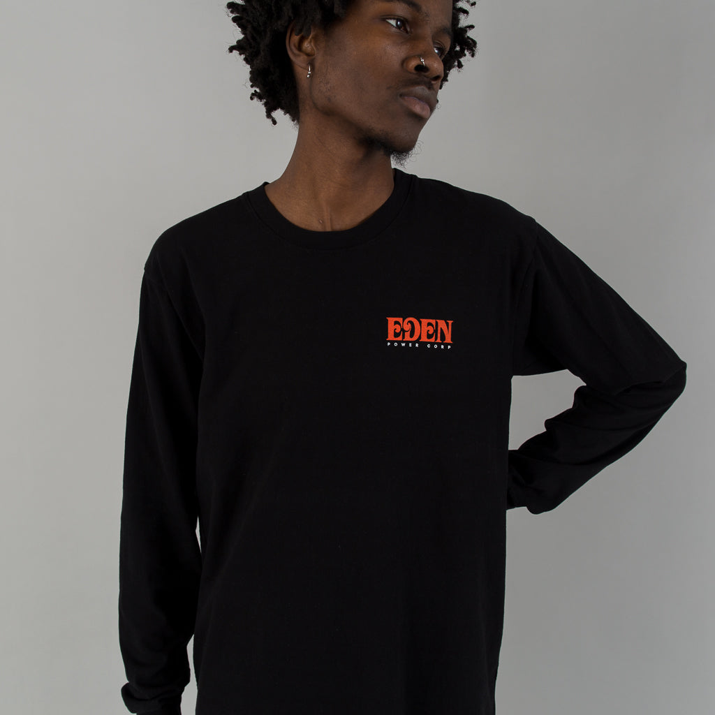 EDEN RECYCLED COTTON LONG SLEEVE - BLACK