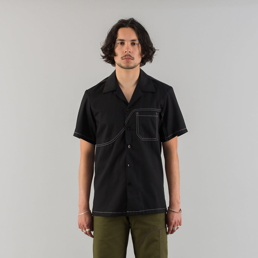 FIELD SHIRT RECYCLED + BIO - BLACK
