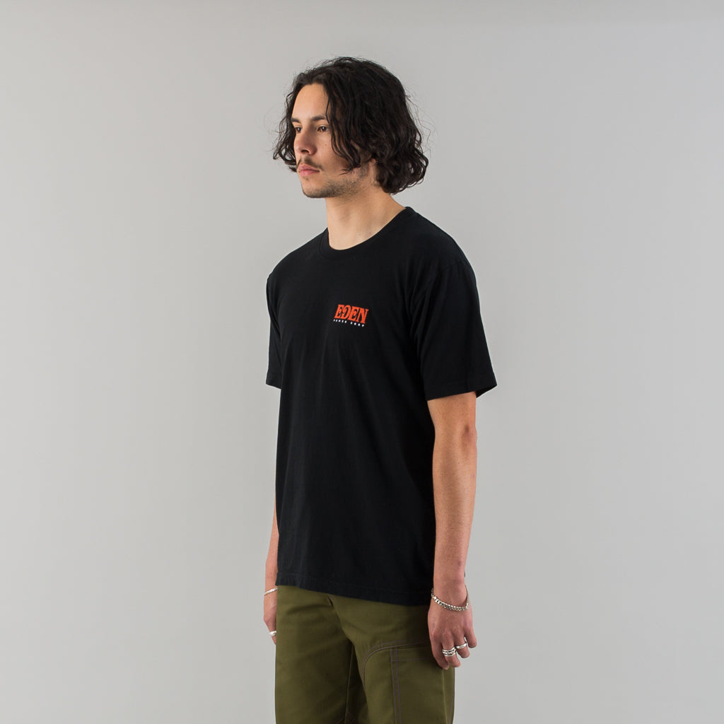 EDEN RECYCLED COTTON T-SHIRT - BLACK