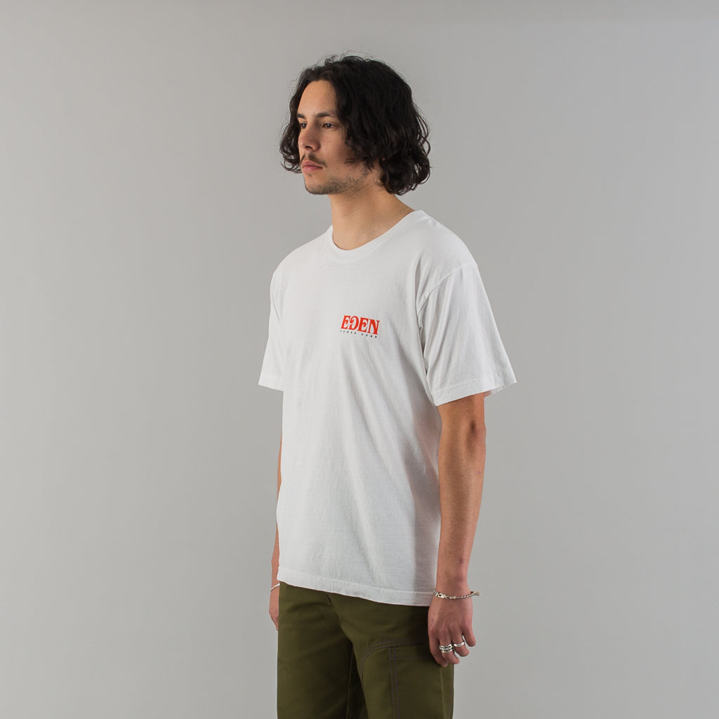 EDEN RECYCLED COTTON T-SHIRT - WHITE
