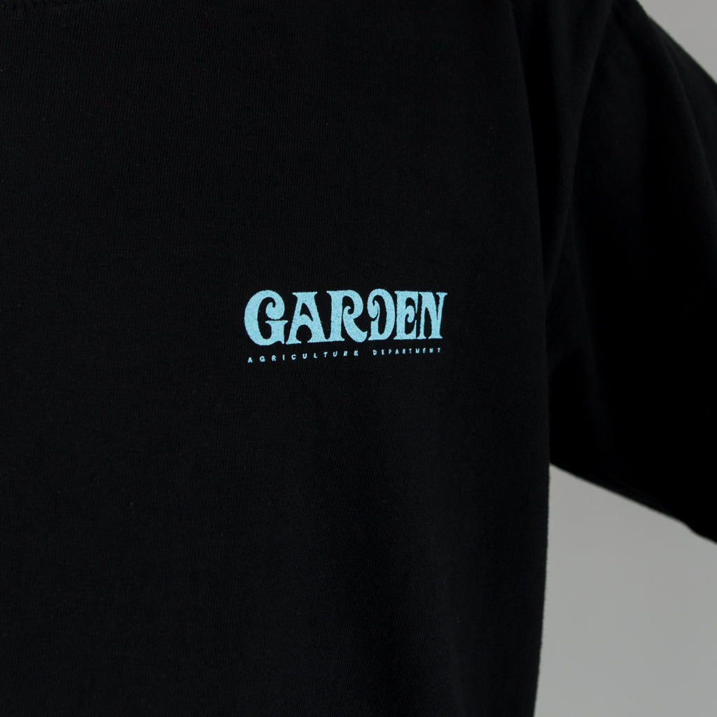 GARDEN RECYCLED COTTON LONG SLEEVE - BLACK