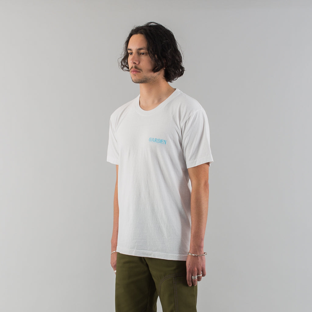 GARDEN RECYCLED COTTON T-SHIRT - WHITE