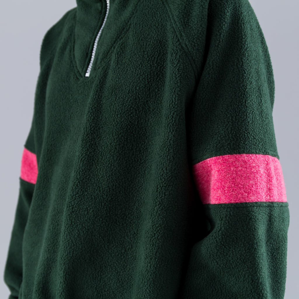 FLEECE TRACK TOP - GREEN