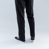 HARD TWISTED TWILL TROUSERS - BLACK