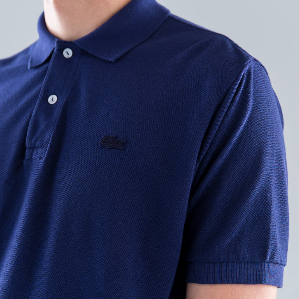 LACOSTE GARMENT DYED POLO - NAVY